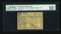 Colonial Notes:Virginia, Virginia May 4, 1778 (Dates Printed) $10 PMG Choice Fine 15 Net....