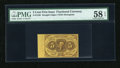 Fractional Currency:First Issue, Fr. 1230 5c First Issue with Full Left Selvage PMG Choice About Unc 58 EPQ....