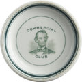 Political:Miscellaneous Political, Abraham Lincoln China Butter Pat....