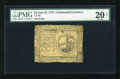 Colonial Notes:Continental Congress Issues, Continental Currency July 22, 1776 $2 PMG Very Fine 20 Net....