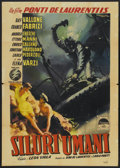 "Movie Posters:War, Human Torpedoes (Paramount, 1954). Italian 2 - Folio (39"" X 55"").War...."