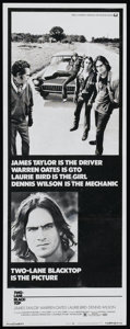 "Movie Posters:Cult Classic, Two-Lane Blacktop (Universal, 1971). Insert (14"" X 36""). CultClassic...."