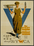 "Movie Posters:War, War Propaganda Poster (YWCA, 1910s). World War I Poster (30"" X 41"")""For Every Fighter a Woman Worker"". War...."