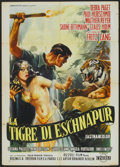 "Movie Posters:Adventure, Journey to the Lost City (Cineriz, 1959). Italian 2 - Folio (39"" X55""). Also known as The Tiger of Eschnapur. Adventure..."