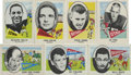 Football Cards:Sets, 1961 Nu-Cards, Inc. College Football Partial Set (46/80).. ...
