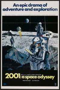 "2001: A Space Odyssey (MGM, 1968). One Sheet (27"" X 41"") Style B. Science Fiction"