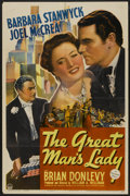 """Movie Posters:Romance, The Great Man's Lady (Paramount, 1941). One Sheet (27"""" X 41"""").Romance...."""
