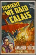 "Movie Posters:War, Tonight We Raid Calais (20th Century Fox, 1943). One Sheet (27"" X41""). War...."