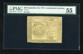 Colonial Notes:Continental Congress Issues, Continental Currency September 26, 1778 $50 PMG About Uncirculated55....