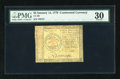 Colonial Notes:Continental Congress Issues, Continental Currency January 14, 1779 $3 PMG Very Fine 30....