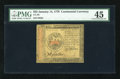 Colonial Notes:Continental Congress Issues, Continental Currency January 14, 1779 $35 PMG Choice Extremely Fine45....