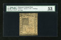 Colonial Notes:Delaware, Delaware January 1, 1776 5s PMG About Uncirculated 53....