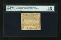 Colonial Notes:Massachusetts, Massachusetts October 16, 1778 3s PMG Choice Extremely Fine 45....
