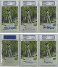 "Autographs:Post Cards, Baseball Hall of Famers ""Sand Lot Kid"" Signed Postcards, PSA-GradedLot of 6...."