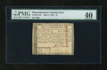 Colonial Notes:Massachusetts, Massachusetts May 5, 1780 $4 Uncancelled PMG Extremely Fine 40....
