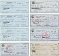 Autographs:Checks, Oscar Gamble Signed Personal Checks Lot of 8....