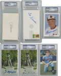 Autographs:Post Cards, Vintage Baseball Stars Signatures Lot of 6....
