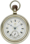 Timepieces:Pocket (pre 1900) , Hampden Fancy Dial Pocket Watch, circa 1884. ...