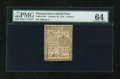 Colonial Notes:Pennsylvania, Pennsylvania October 25, 1775 6d PMG Choice Uncirculated 64....