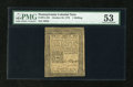 Colonial Notes:Pennsylvania, Pennsylvania October 25, 1775 1s PMG About Uncirculated 53....