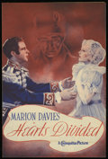"Movie Posters:Romance, Hearts Divided (Warner Brothers, 1936). Herald (8.5"" X 11.25""). Romance...."