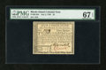 Colonial Notes:Rhode Island, Rhode Island July 2, 1780 $3 PMG Superb Gem Unc 67 EPQ....