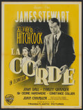 "Movie Posters:Hitchcock, Rope (Warner Brothers, 1948). French Petite (23.5"" X 31"").Hitchcock...."