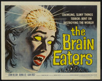 "The Brain Eaters (American International, 1958). Half Sheet (22"" X 28""). Horror"