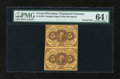 Fractional Currency:First Issue, Fr. 1230 5c First Issue Vertical Pair PMG Choice Uncirculated 64 EPQ....