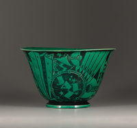 """VIKTOR SCHRECKENGOST (American) """"Poor Man's Bowl"""" (from the Jazz Bowl series), A Glazed Earthenware Bowl, manu..."""
