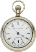 Timepieces:Pocket (pre 1900) , Hampden Railway Pocket Watch, circa 1883. ...
