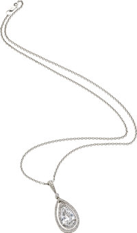 Diamond, Platinum, White Gold Pendant-Necklace, Michael Beaudry