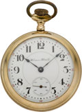 Timepieces:Pocket (pre 1900) , Hampden 21 Jewel Special Railway Pocket Watch, circa 1896. ...