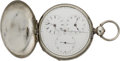 Timepieces:Pocket (pre 1900) , Swiss Captains Double Time Duplex, circa 1870. ...