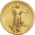 High Relief Double Eagles, 1907 $20 High Relief, Flat Rim MS66 PCGS. CAC....