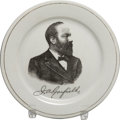 Political:3D & Other Display (pre-1896), James A. Garfield: Portrait Plate....