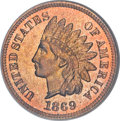 Proof Indian Cents, 1869 1C PR66 Red NGC....