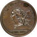 Colonials, 1781-Dated Libertas Americana in Bronze--Environmental Damage--NCS. AU Details....