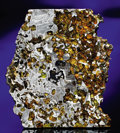 Meteorites:Palasites, A PARTIAL SLICE OF A STUNNING NEW PALLASITE . ...