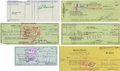 Autographs:Others, Athletes And Entertainers Signed Checks. (lot of 21)...