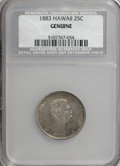 Coins of Hawaii, 1883 25C Hawaii Quarter--Genuine--NCS. Our grade XF details,improperly cleaned. ...