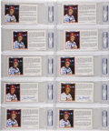 Autographs:Post Cards, Stan Musial Signed Postcards PSA-Graded Postcards Lot of 10....