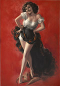 Pin-up and Glamour Art, ROLF ARMSTRONG (American 1889 - 1960). Hat Dance. Pastel onpaper. 36.5 x 26 in.. Signed lower right. ...