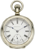Timepieces:Pocket (pre 1900) , Waterbury Addison Series K Duplex Pocket Watch, circa 1888. ...