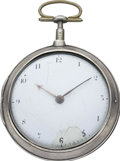 Timepieces:Pocket (pre 1900) , George Gaskett Dublin Verge Fusee, circa 1820. ...