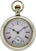 Timepieces:Pocket (pre 1900), Waltham P.S. Bartlett with Fancy Dial, circa 1888. ...