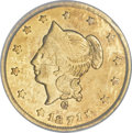 California Fractional Gold, 1871 $1 Liberty Round 1 Dollar, BG-1204, High R.5, MS62 PCGS....