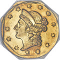 California Fractional Gold, 1854 $1 Large Eagle Octagonal 1 Dollar, BG-504, Low R.5, MS62PCGS....