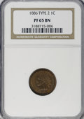 Proof Indian Cents: , 1886 1C Type Two PR65 Brown NGC. NGC Census: (0/0). PCGS Population(11/2). Numismedia Wsl. Price for NGC/PCGS coin in PR6...