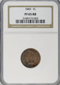 Proof Indian Cents: , 1883 1C PR65 Red and Brown NGC. NGC Census: (113/37). PCGSPopulation (99/29). Mintage: 6,609. Numismedia Wsl. Price for NG...
